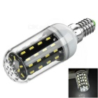 E14 5W 380lm 56-SMD 4014 LED Corn Lamp White Light 5751K w/ Cover (AC 220V)