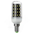 E14 5W 380lm 56-SMD 4014 LED Corn Lamp Cold White Light w/ Cover
