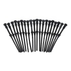 Flexible Mounting Pin Rivet Screw for PC Case Fan - Black (20PCS)