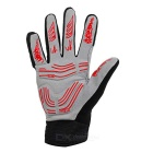 MOke Anti-Shock Touch-Screen Full-Finger Cycling Gloves - Red (L)