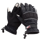 PRO-BIKER MTV07 Motorcycle Outdoor Water Resistant Warm Full-Finger Gloves - Black (M / Pair)
