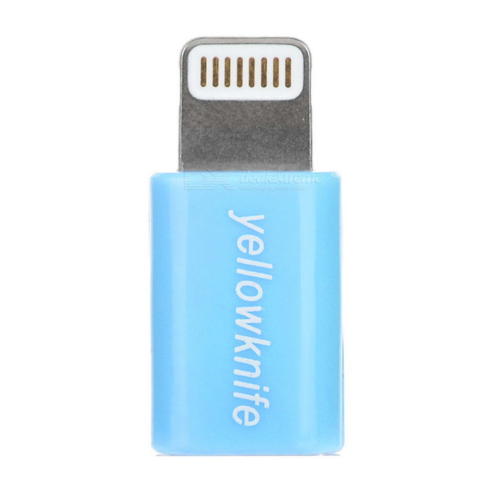 Yellowknife foudre 8 broches pour adaptateur Micro USB - bleu