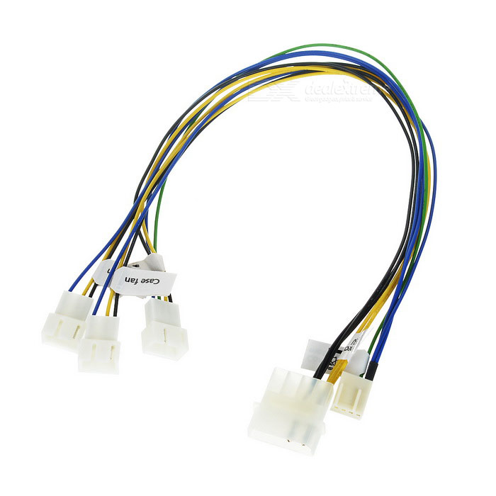 4-Pin PWM Fan Splitter Cable - White + Blue (34cm)