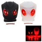 Leadbike Waterproof 3-Mode Silicone Red LED Warning Bike Lights - Black + White + Multicolor (2PCS)