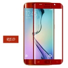 Explosion-Proof Arc Tempered Glass Screen Protector for Samsung S6 Edge - Transparent + Red