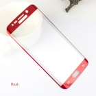Arc Tempered Glass Film for Samsung S6 Edge - Transparent + Red