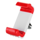UniversalCarAir-conditioningOutletMountHolderw/Anti-slipStandforCellphone-White+Red