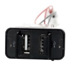 Dual USB Car Power Charger for Suzuki Foglight Switch Hole - Black