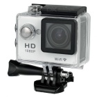 "Waterproof 2"" LCD CMOS 12MP 170 Degree Wide Angle 1080P Wi-Fi Sports Camera - White + Black"
