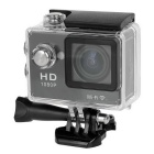 "Waterproof 2"" LCD CMOS 12MP 170 Degree Wide Angle 1080P Wi-Fi Sports Camera - Black"