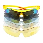 CTSmart SP0890 Windproof Polarized Sunglasses Goggles - Yellow + Red