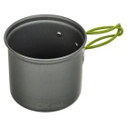 DS-101 Cooking Pots + Burner Stove + 1oz Flask Keychain Set - Black