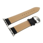 Leather Watchband w/ Band Attachment for APPLE WATCH 42mm - Black