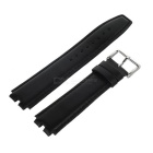 Top Cow Leather Watch Band for Pebble Steel 2 - Black