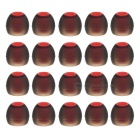 4.5mm~5mm Noise Reduction In-Ear Environmental Silicone Ear Cover Set - Black + Red (20PCS)