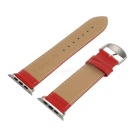 Leather Watchband w/ Band Attachment for APPLE WATCH 42mm - Red