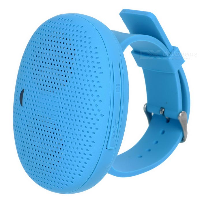 Творческий мини Bluetooth V4.0 Wrist Speaker W / Micro USB / TF - синий