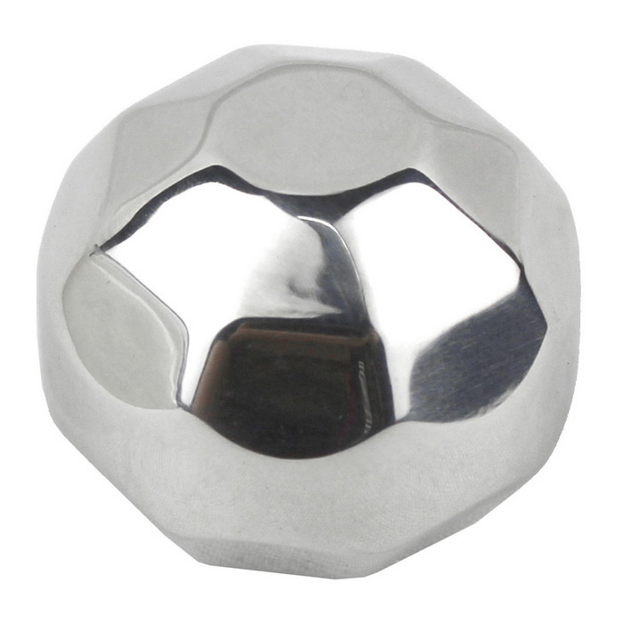 Polygon Style Stainless Steel Ice Cube - Silver