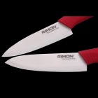 "RIMON Classic Chef Knife 5 ""+ 6"" Ceramic Knife - Red (2PCS)"