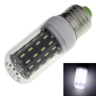 E27 5W LED Corn Light White 6500K 700lm 56-SMD 4014 - White + Black (AC 220~240V)