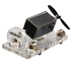NEJE DIY Solar Magnetic Levitation Motor Engine - Transparent + Black