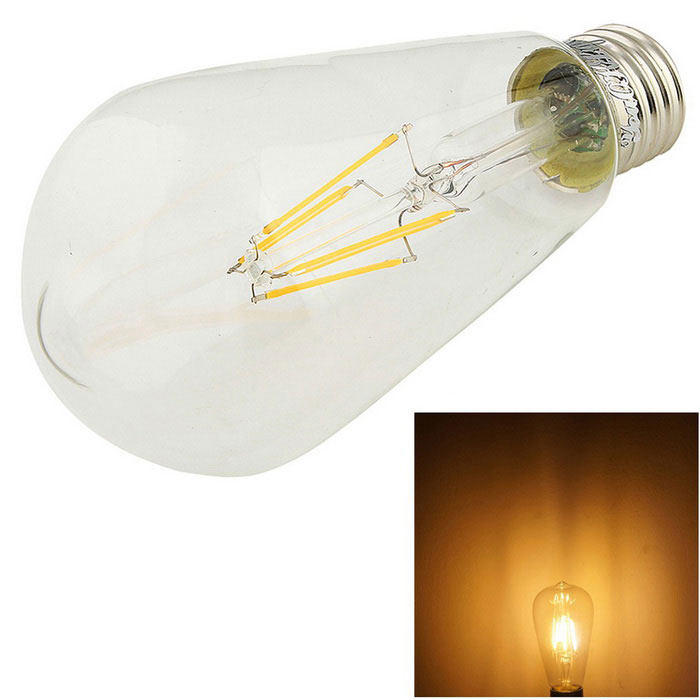 YouOKLight E27 4W 400lm 3000K Warm White Light LED Filament Bulb