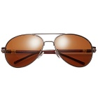 ReeDoon Men's Resin Lens Polarized Toad Sunglasses - Tawny