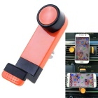 360 Degrees Rotating Car Air Vent Mount Holder for Mobile Phone - Orange + Black