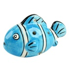 Little Fish Style 6-Hole C-key Ocarina Musical Instrument - Blue