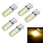 Marsing G4 2W 150lm 3000K 26-3014 SMD LED Warm White Light Car Bulb (DC 12V / 5 PCS)