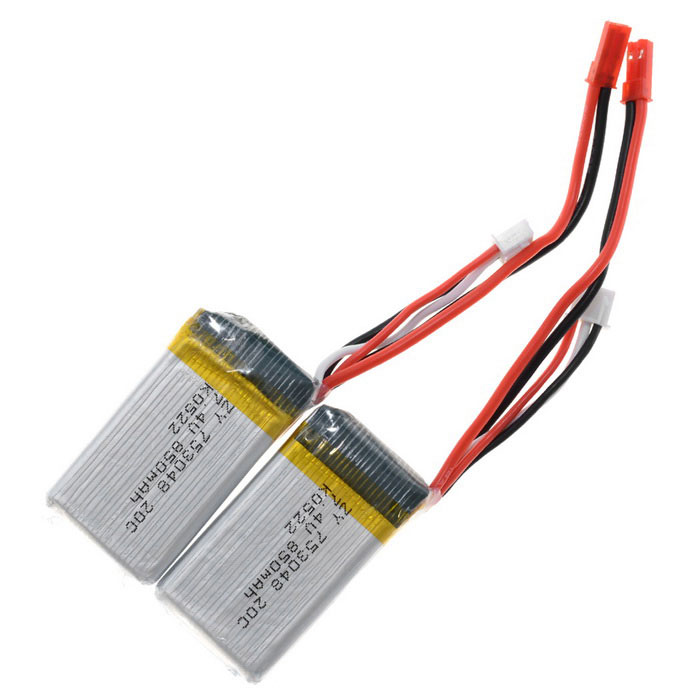 Universal 7.4V 850mAh 20C Li-Po Battery for UDI U829 R/C Toys (2PCS)