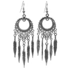 G.ERIMON MYRH001 Classic Feathers Style Alloy Earrings for Women - Silver (Pair)