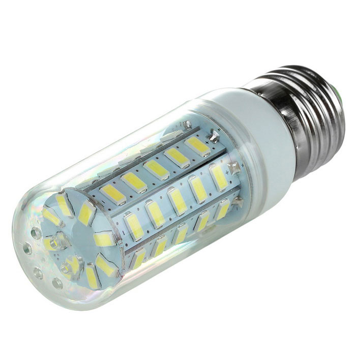 E27 3.5W 600lm 6500K 48-SMD 5730 LED Cool White Corn Lamp (220~240V)E27<br>Form  ColorWhiteColor BINCool WhiteModelN/AMaterialABS Plastic + Aluminum alloyQuantity1 DX.PCM.Model.AttributeModel.UnitPowerOthers,3.5WRated VoltageAC 220-240 DX.PCM.Model.AttributeModel.UnitConnector TypeE27Chip BrandOthers,N/AEmitter TypeOthers,5730 SMD LEDTotal Emitters48Theoretical Lumens600 DX.PCM.Model.AttributeModel.UnitActual Lumens600 DX.PCM.Model.AttributeModel.UnitColor Temperature6500KDimmableNoBeam Angle360 DX.PCM.Model.AttributeModel.UnitWavelengthN/APacking List1 x Corn lamp<br>