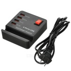 US Plugss High-Speed 4-Port USB 2.0 Hub w/ Control Switch - Black + Red