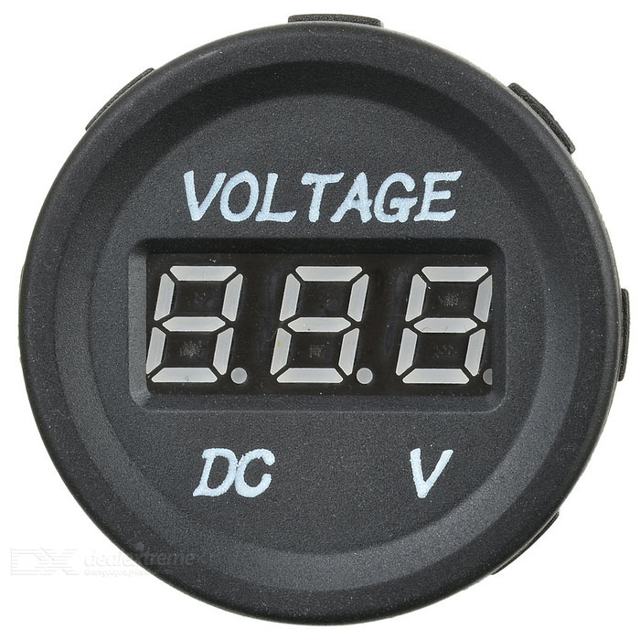 0.36 3-Digit Green LED Screen Voltmeter for Car / Motorcycle - BlackVoltmeter or Thermometers or Hygrometers<br>Form ColorGreen LightModelN/AQuantity1 DX.PCM.Model.AttributeModel.UnitMaterialABSOther FeaturesMeasuring range: 0~30V; 0.36 3 digits green LED screen.Packing List1 x Voltmeter<br>
