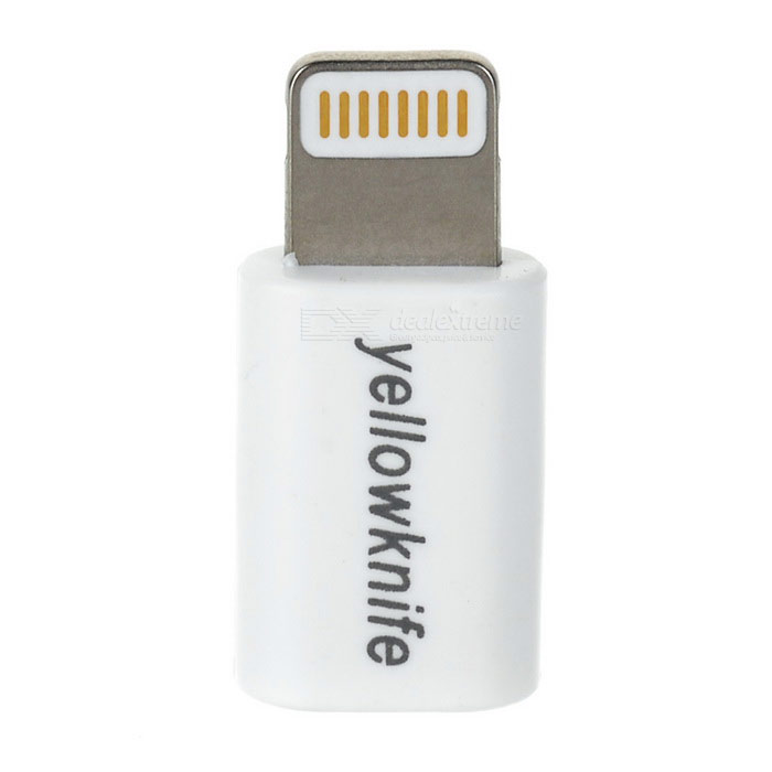 Yellowknife MFI 8Pin relámpago a micro adaptador USB para IPHONE - blanco