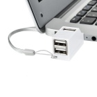 High Speed USB 2.0 3-Port Hub - White