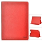 iSecret Protective PU + PC Case w/ Slot for IPAD AIR 2 - Red