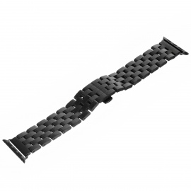 Mini Smile Watchband w/ Attachment for APPLE WATCH 42mm - Black