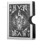Magic Ghost Pattern Stainless Steel Card Holder - Black + Silver