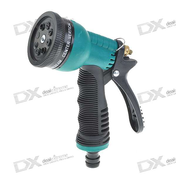 8-Mode Spray Head/Nozzle for Water Spray Gun - Green + Black