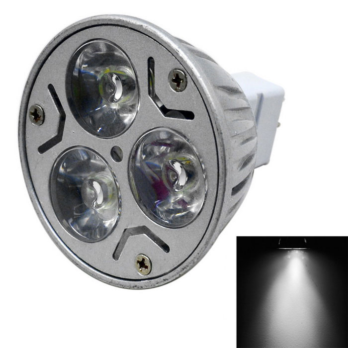Jiawen MR16 3W Dimmable LED Spotlight fresco 300lm Luz Blanca (DC 12V)