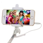 Mini Retractable Wired Selfie Monopod-Zwart
