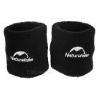 NatureHike Running Sports Wrist Bands Supports Bracers - Black (2PCS)