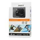 "2.0"" LTPS 12MP 1080P Sports Action Camera DV w/ Wi-Fi, TF - Black"