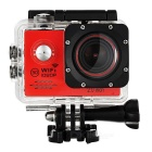 "2.0"" LTPS 12MP CMOS Wide Angle 1080P Sports Camera DV w/ Wi-Fi, TF - Red + Black"