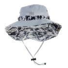 NatureHike Women's Outdoor Fishing UPF50+ UV Protection Quick Dry Nylon Hat Sunhat - Light Grey