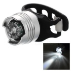 LED Bike Helmet Warning Taillight Lamp 3-Mode Cool White - Silver (2 x CR2032)