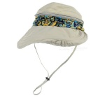 NatureHike Women's Bohemia Style Large Brim UV Protection Hat - Khaki