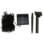 In-color solarbetrieben 2W gelb 2-Mode 200-LED String Licht - schwarz